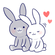Lovey-dovey rabbit 2 (English) sticker #7056024