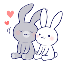 Lovey-dovey rabbit 2 (English) sticker #7056025