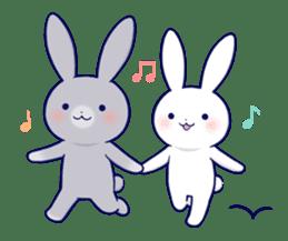 Lovey-dovey rabbit 2 (English) sticker #7056026