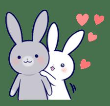 Lovey-dovey rabbit 2 (English) sticker #7056028