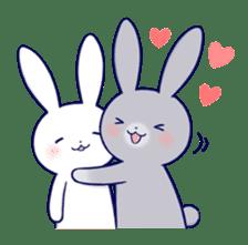 Lovey-dovey rabbit 2 (English) sticker #7056029