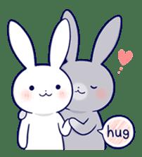 Lovey-dovey rabbit 2 (English) sticker #7056031