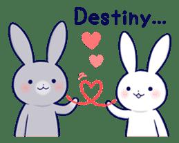 Lovey-dovey rabbit 2 (English) sticker #7056033