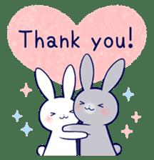 Lovey-dovey rabbit 2 (English) sticker #7056034