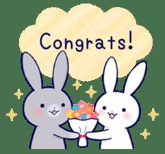 Lovey-dovey rabbit 2 (English) sticker #7056035