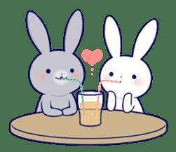 Lovey-dovey rabbit 2 (English) sticker #7056036