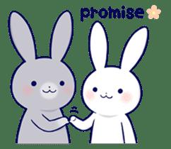 Lovey-dovey rabbit 2 (English) sticker #7056037