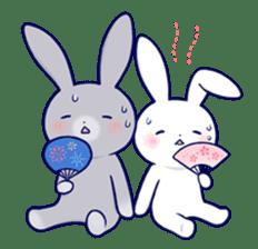 Lovey-dovey rabbit 2 (English) sticker #7056038