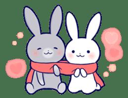 Lovey-dovey rabbit 2 (English) sticker #7056039