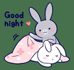 Lovey-dovey rabbit 2 (English) sticker #7056040