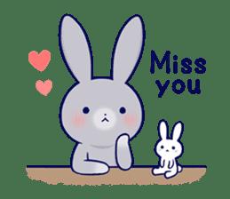 Lovey-dovey rabbit 2 (English) sticker #7056042