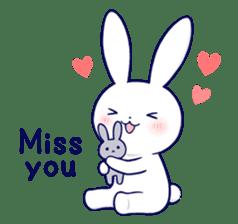 Lovey-dovey rabbit 2 (English) sticker #7056044
