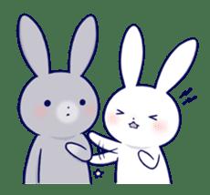 Lovey-dovey rabbit 2 (English) sticker #7056046