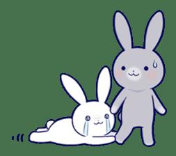 Lovey-dovey rabbit 2 (English) sticker #7056047