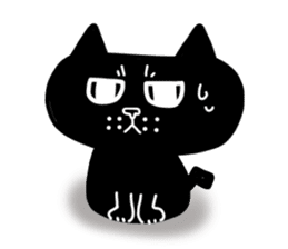 Nono of an expressionless black cat. sticker #7056169