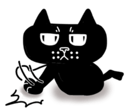 Nono of an expressionless black cat. sticker #7056180