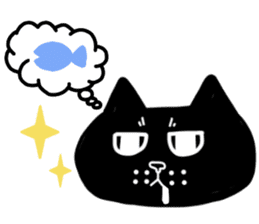 Nono of an expressionless black cat. sticker #7056184