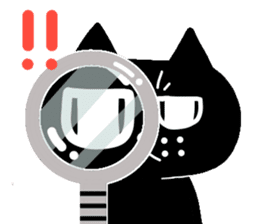 Nono of an expressionless black cat. sticker #7056197