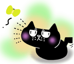 Nono of an expressionless black cat. sticker #7056198