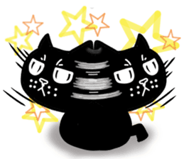 Nono of an expressionless black cat. sticker #7056201