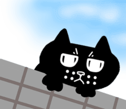 Nono of an expressionless black cat. sticker #7056202
