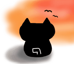 Nono of an expressionless black cat. sticker #7056203