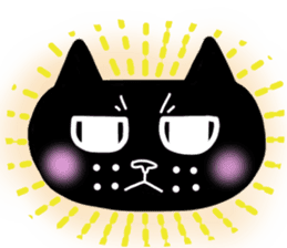 Nono of an expressionless black cat. sticker #7056205