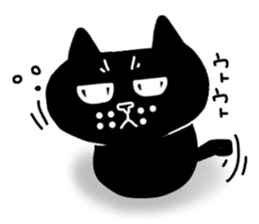 Nono of an expressionless black cat. sticker #7056206