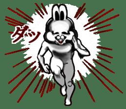 White Rabbit man sticker #7057170