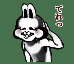 White Rabbit man sticker #7057178