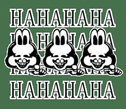White Rabbit man sticker #7057191
