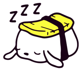 Lazy Sushi Bunny and Rabbit Friends sticker #7065491