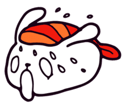 Lazy Sushi Bunny and Rabbit Friends sticker #7065498