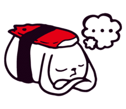Lazy Sushi Bunny and Rabbit Friends sticker #7065505