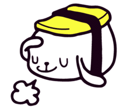 Lazy Sushi Bunny and Rabbit Friends sticker #7065507