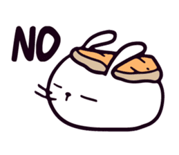 Lazy Sushi Bunny and Rabbit Friends sticker #7065509