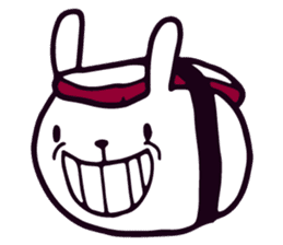 Lazy Sushi Bunny and Rabbit Friends sticker #7065514
