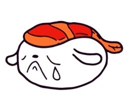 Lazy Sushi Bunny and Rabbit Friends sticker #7065516