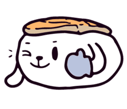 Lazy Sushi Bunny and Rabbit Friends sticker #7065521