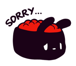 Lazy Sushi Bunny and Rabbit Friends sticker #7065525