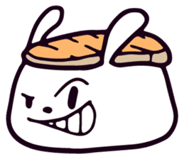 Lazy Sushi Bunny and Rabbit Friends sticker #7065526