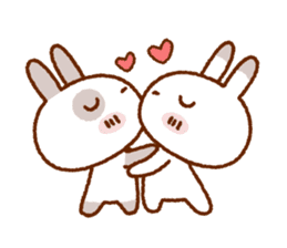 Spotted rabbit (Chap. always with you) sticker #7066450