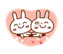 Spotted rabbit (Chap. always with you) sticker #7066460