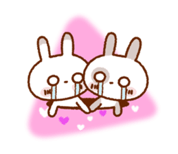 Spotted rabbit (Chap. always with you) sticker #7066461