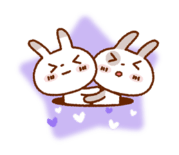Spotted rabbit (Chap. always with you) sticker #7066462