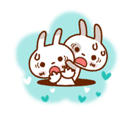 Spotted rabbit (Chap. always with you) sticker #7066463