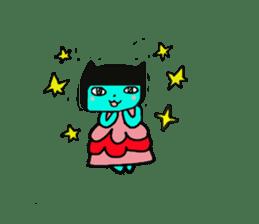Lovely light blue cat sticker #7067827