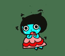 Lovely light blue cat sticker #7067828