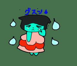 Lovely light blue cat sticker #7067832