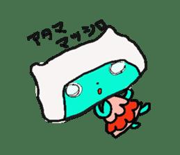 Lovely light blue cat sticker #7067842